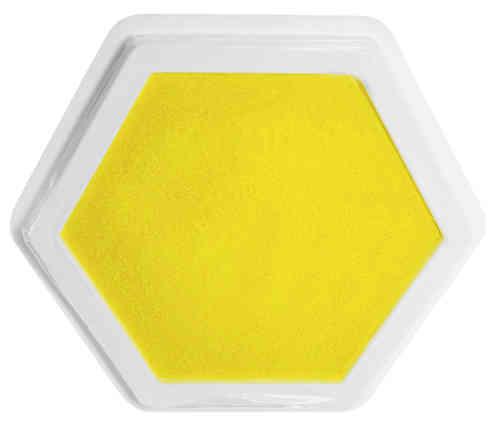 Riesenstempelkissen Gelb