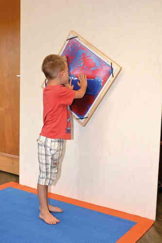 Dreheinrichtung für Wand , Faszinationsmatten , Aqua , Wassermatten 50 x 50 cm