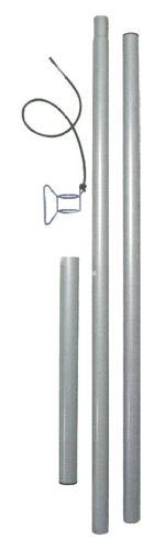 Stahlmastset -  für Sonnensegel  - 1 Mast mit Zubehör