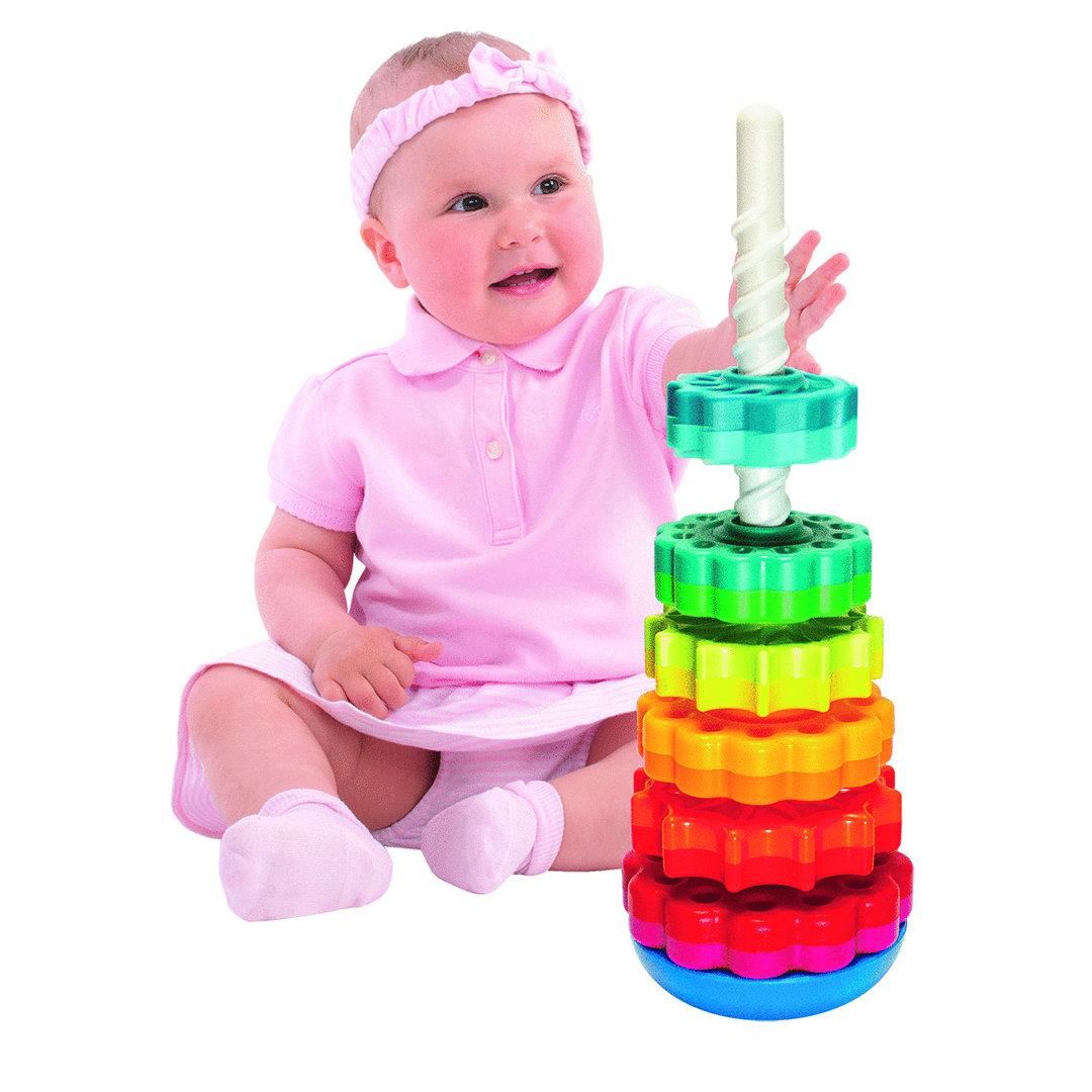 Wackelturm SpinAgain  U3 - TOP Spiralturm für Baby
