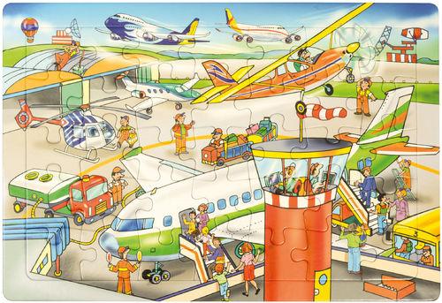 Puzzle Flughafen 45x30 cm