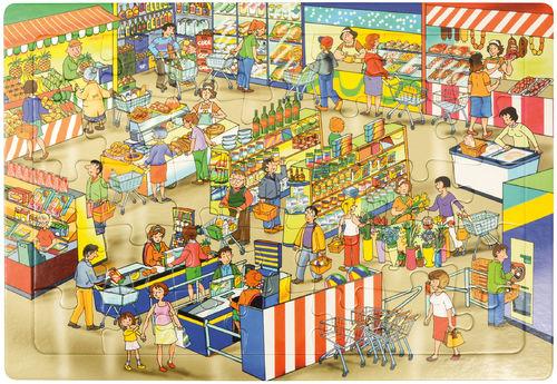 Puzzle Markt 45 x 30 cm