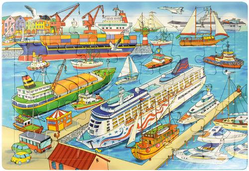 Puzzle Hafen 45 x 30 cm