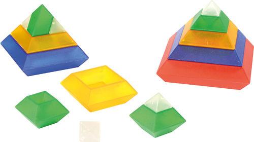 Triangle Puzzle , transparent 15 Teile auch für Leuchtkübel