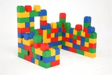 Bausteinblock -  Kita Set - 144 große Bausteine