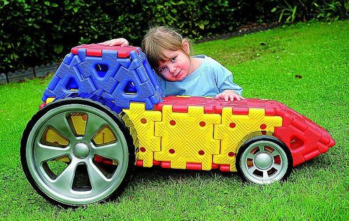 Konstruktionsmaterial Riesen Polydron Auto Set