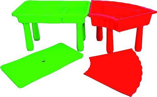 Sandtisch Matschtisch Wassertisch mit verstellbaren Füßen 2 Höhen trapezförmig