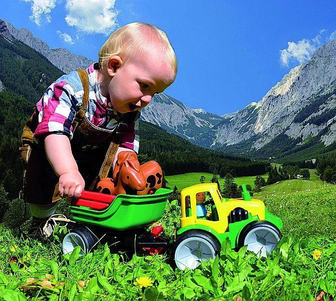 Traktor Set 3 - Top Sparset Frontlader Traktor mit Anhänger Pferdetraktortransporter