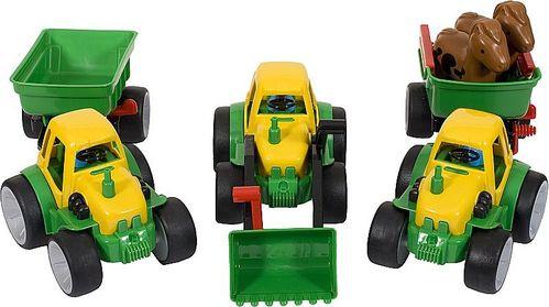 Traktor Set 3 - Top Sparset -  Frontlader - Traktor mit Anhänger - Pferdetransporter - GOWI