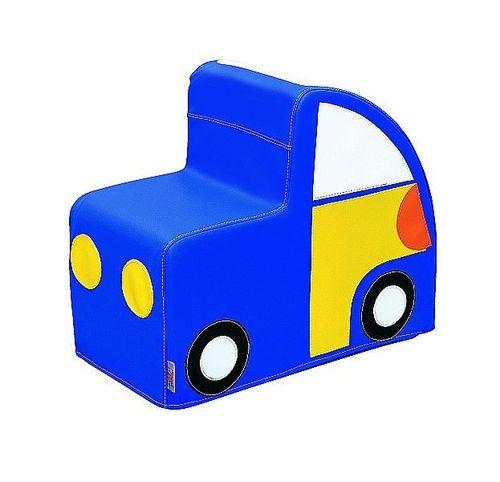 Spielzeugauto blau Kunstleder mit Schaumstoffkern