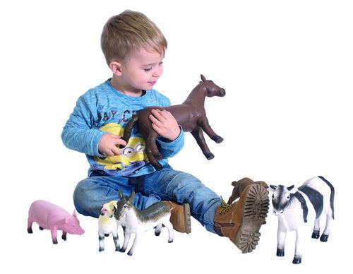 Tiere Set 6 - Bauernhof Farmtiere große Ausführung ca. 40 cm