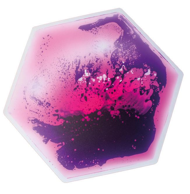 Aqua Platte Wasserplatte Wassermatte Hexagon riesig Set 4