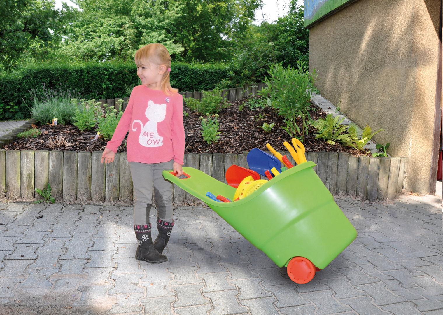 Spielzeugkarre - Aufbewahrung - Ziehkarre Set 3