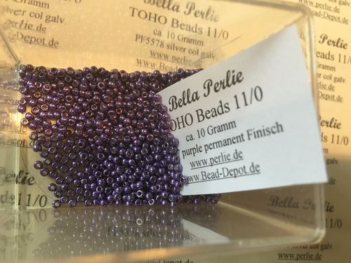TOHO Beads 10 G PF567 purple permanent finisch, galv.