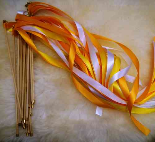 Wedding Wands Orange