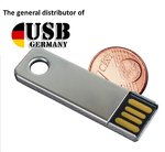2GB USB Stick MINI Key Metall Chrome