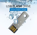 8GB USB Stick MINI Key Metall Chrome