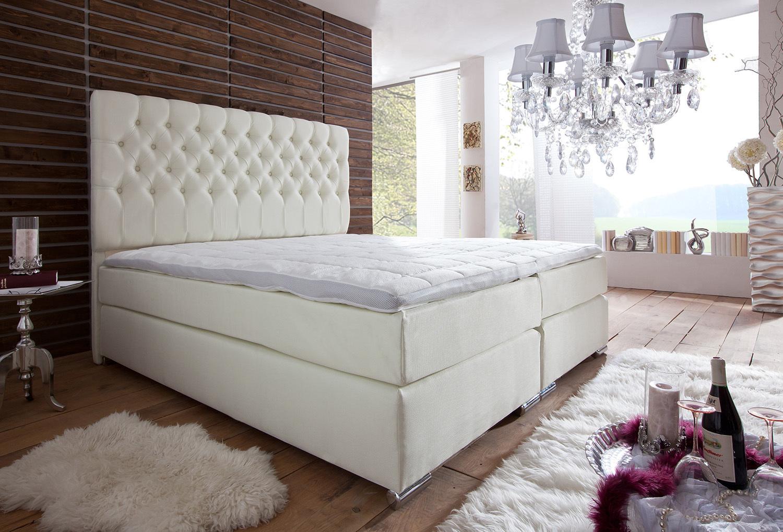 boxspringbett st tropez 160x200 180x200 200x200 cm ebay. Black Bedroom Furniture Sets. Home Design Ideas