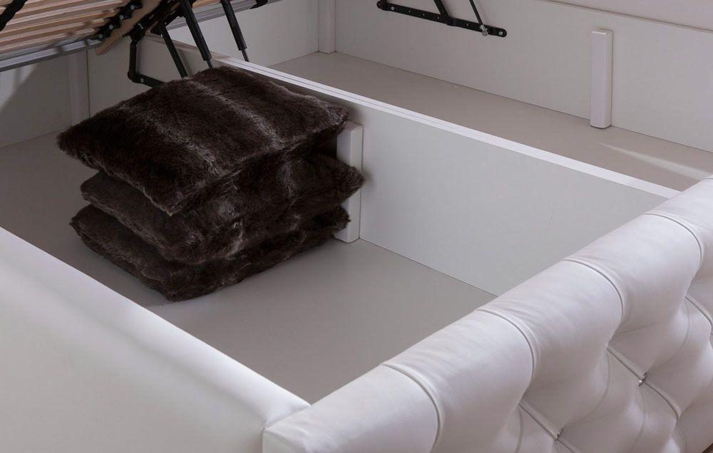 bett mit bettkasten 140x200 weis. Black Bedroom Furniture Sets. Home Design Ideas