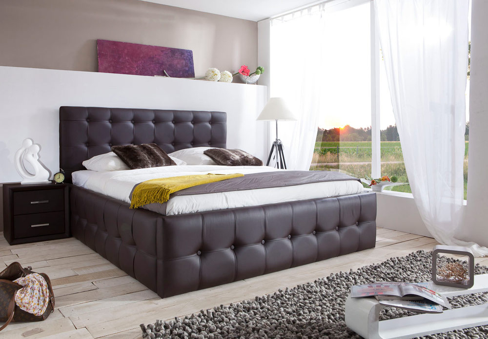 di lara polsterbett florenz 90x200 140x200 160x200 180x200 200x200 cm ebay. Black Bedroom Furniture Sets. Home Design Ideas