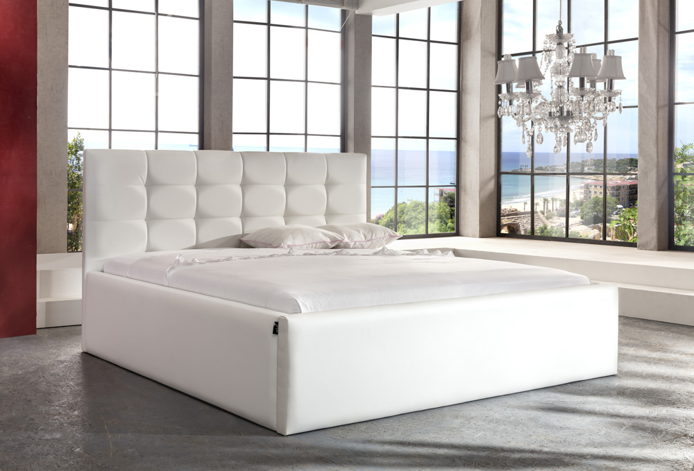 polsterbett milano mit bettkasten 160x200 180x200 200x200. Black Bedroom Furniture Sets. Home Design Ideas