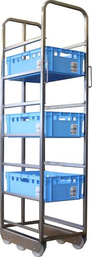 Euro crates Transport trolley for 7 E2 boxes