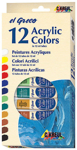 el Greco Acrylfarben Set 12 x 12 ml