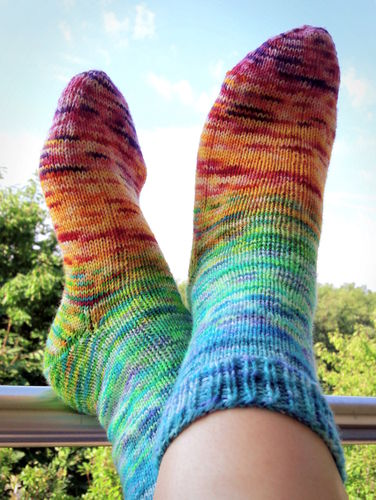 Fading Rainbow Socks
