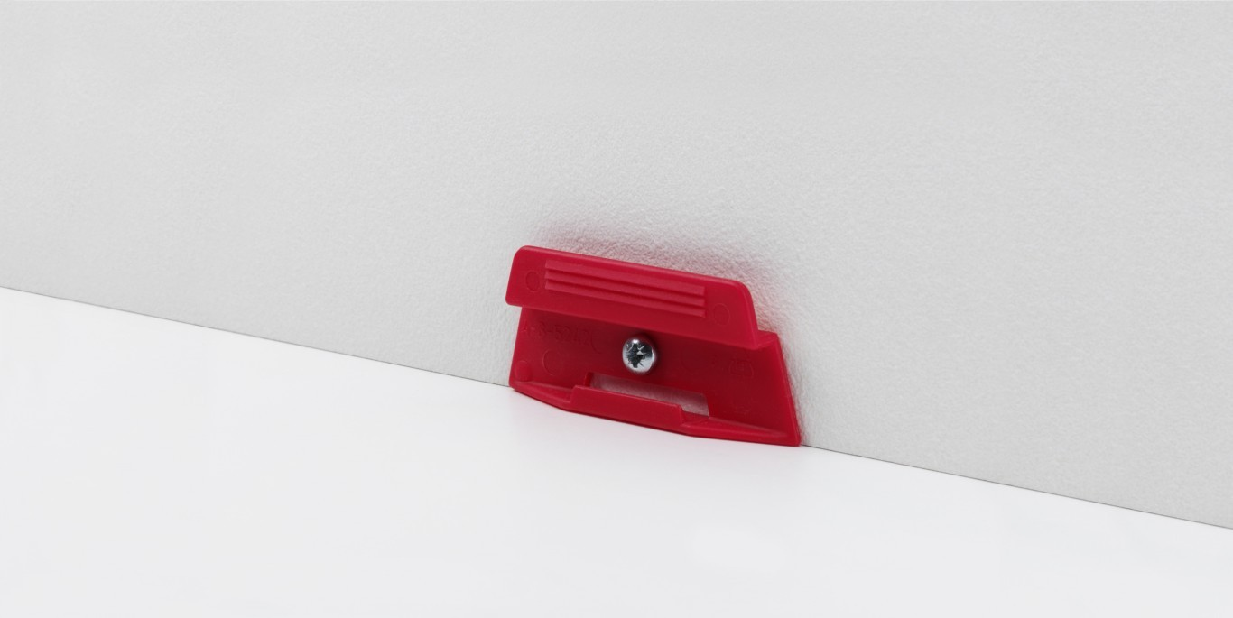Leistenclip rot für SL 4 und SL 18