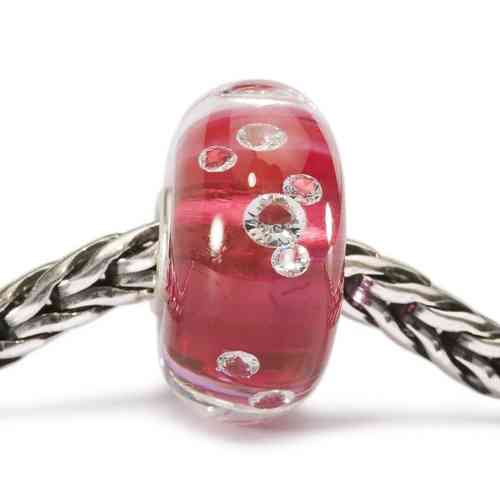 "Trollbeads Muranoglas-Bead ""Diamanten Bead Pink"" 81006"
