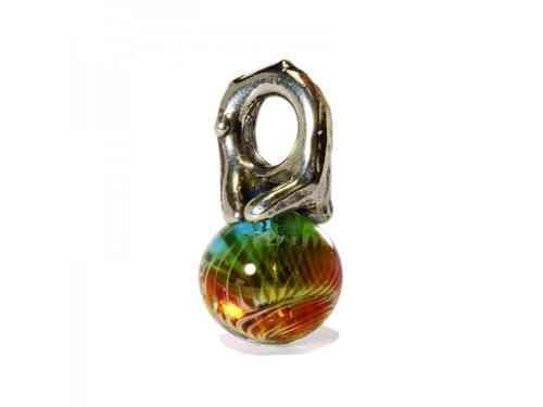 """Trollbeads Silber-Element """"Herbst"""" mit Glas 61720"""