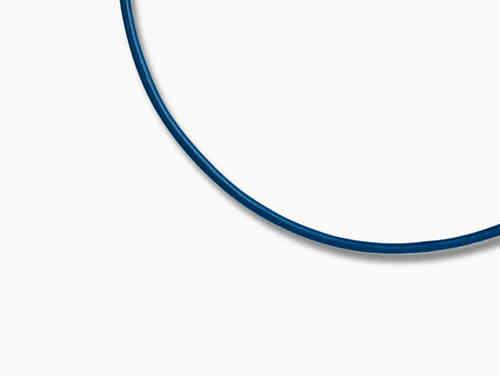 Giorgio Martello Ledercollier blau 45cm