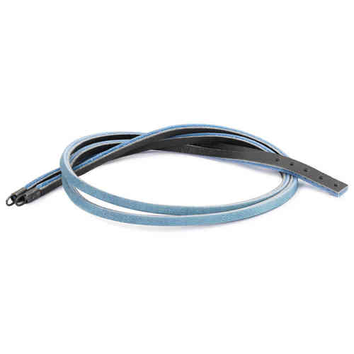 Trollbeads Lederband hellblau/dunkelgrau 45cm Länge mit Verschluss L5115-45