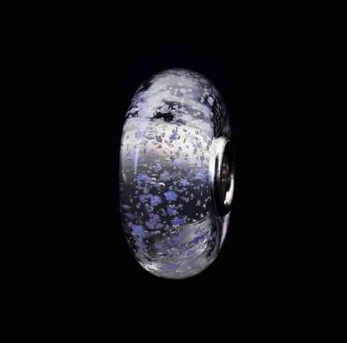 "Trollbeads Muranoglas-Bead ""Schneesturm"" 62032"