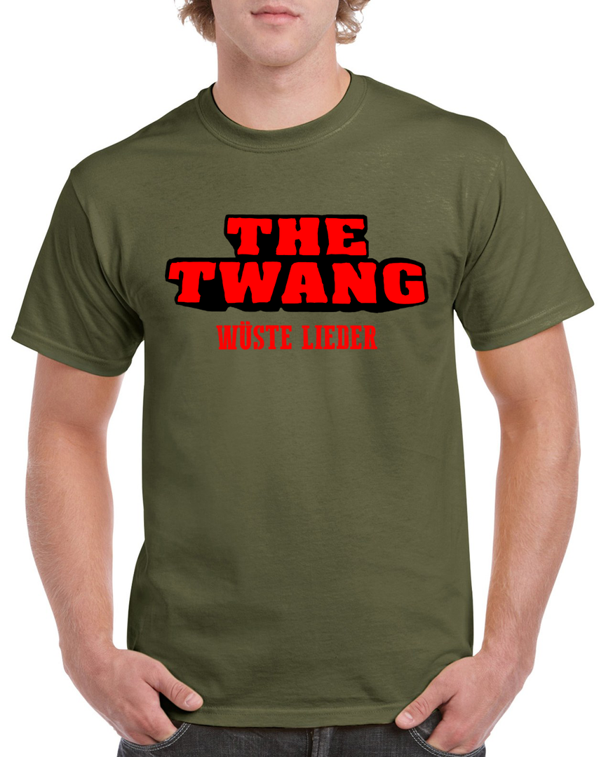 The Twang - Logo-Shirt - Wüste Lieder - Farbe: Military Green