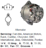 Lichtmaschine Fiat-Allis, American Motors, Buick, Cadillac, Chevrolet, GMC, International, ...