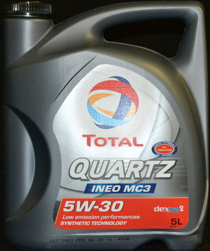 5 Liter TOTAL Quartz Ineo MC3 5W-30 Motoröl