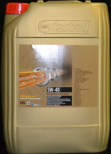 20 Liter Castrol EDGE FST Turbo Diesel 5W-40 Motoröl VW FORD BMW Mercedes