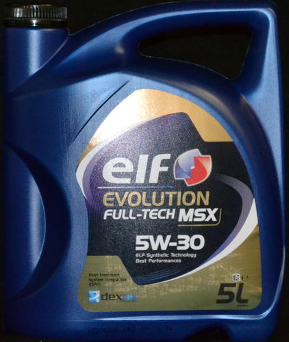 5 Liter Elf EVOLUTION FULL-TECH MSX 5W-30 Motoröl MB 229.51 BMW LL-04 Opel