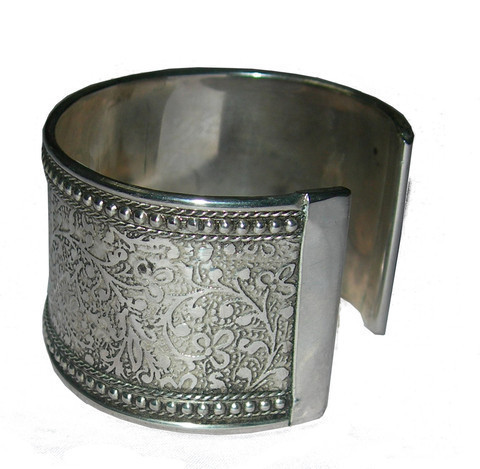 Metal Impressions Armreif - Silber