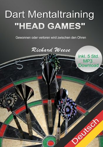 "Dart Mentaltraining ""Head Games"" + über 5 Std. Audioteil als E-Book"
