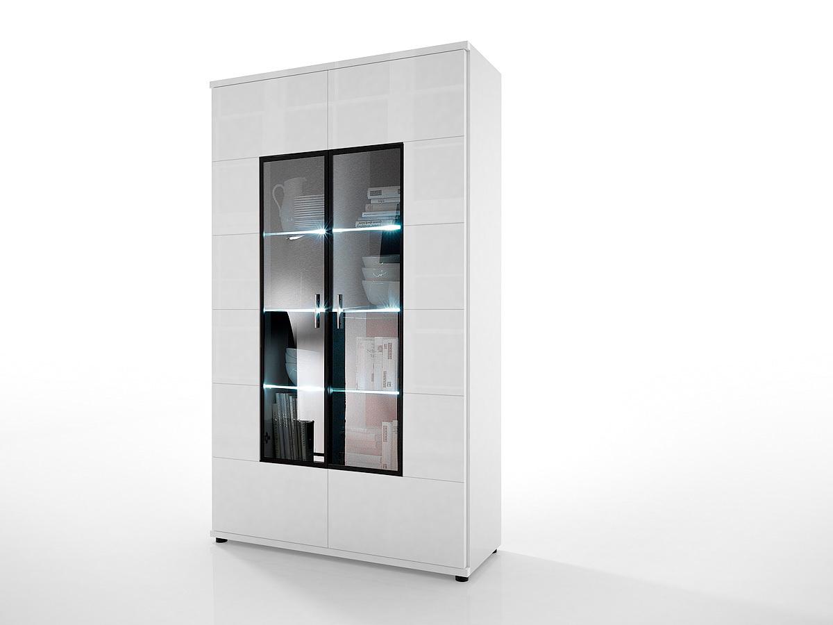 vitrine corano wei hochglanz m bel ambiente. Black Bedroom Furniture Sets. Home Design Ideas