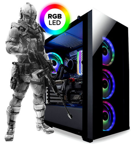 Gaming PC AMD Ryzen™ 5 2400G 4/8x 3.9 Ghz - RGB Tower - Radeon™ Vega 11 4GB - Asus Prime - Windows 1