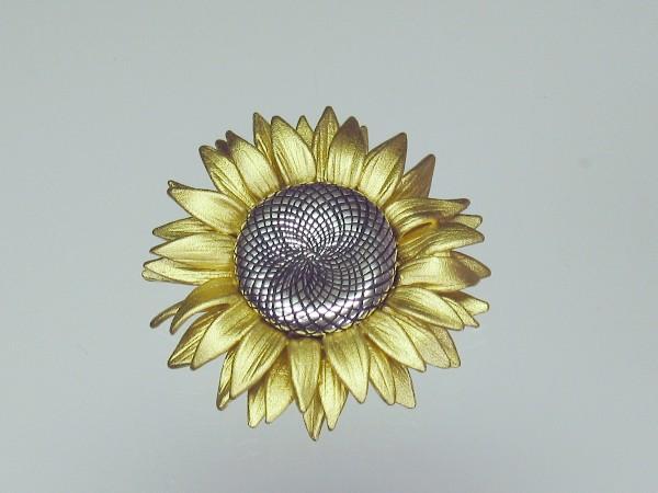 platin 10 Anhänger Sonnenblume 12 x 15 mm 0,16€//1Stk