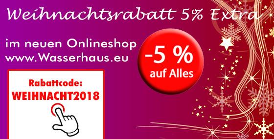 Eröffnungsrabatt im neuen Onlineshop www.wasserhaus.eu