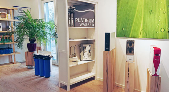 Wasserfilter im Wasserhaus Ladengeschäft in Potsdam
