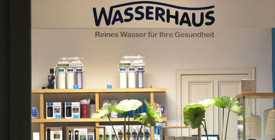 Wasserfilter im Wasserhaus Ladengeschäft in Berlin Wilmersdorf