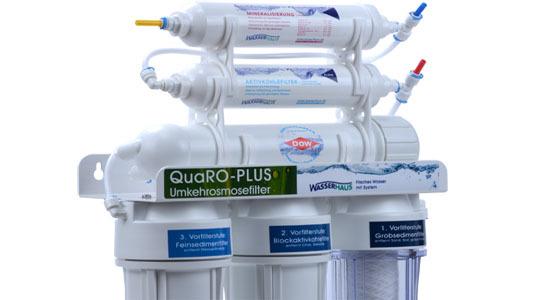 Wasserfilter QuaRo PLUS Osmoseanlage - das Optimum an Trinkwasser