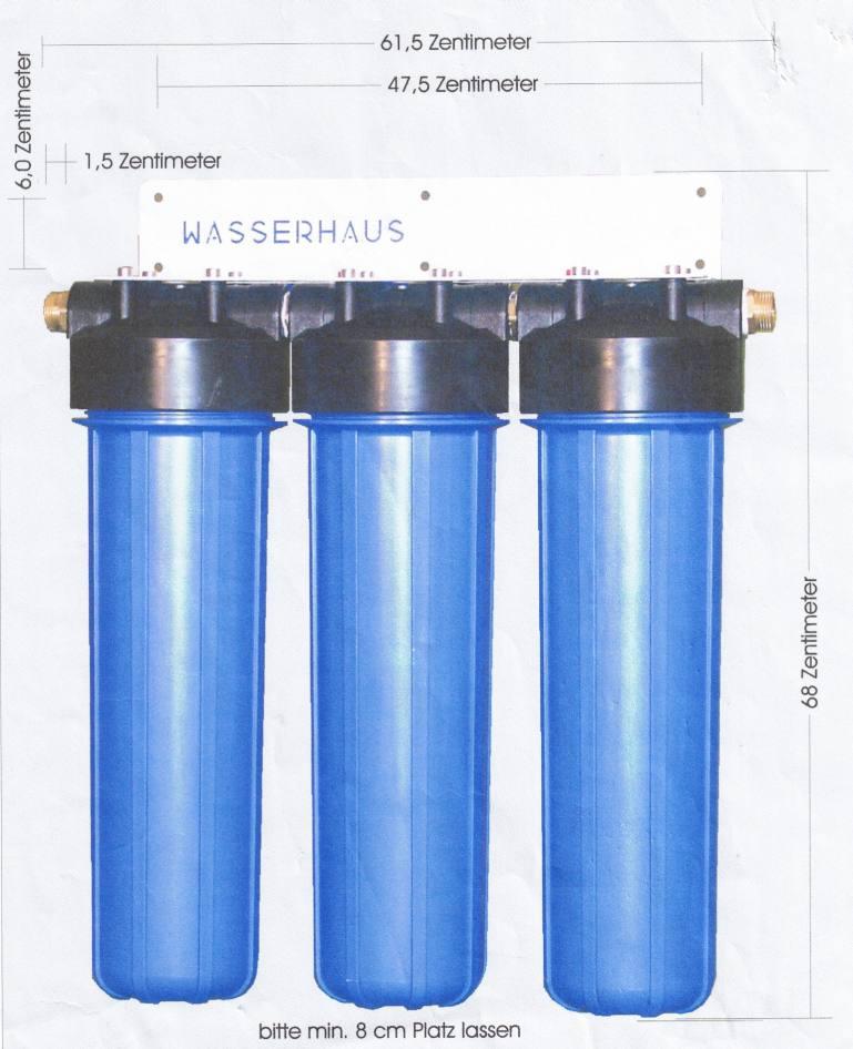 big blue wasserfilter abmessungen wasserhaus wasserfilter und osmoseanlagen. Black Bedroom Furniture Sets. Home Design Ideas