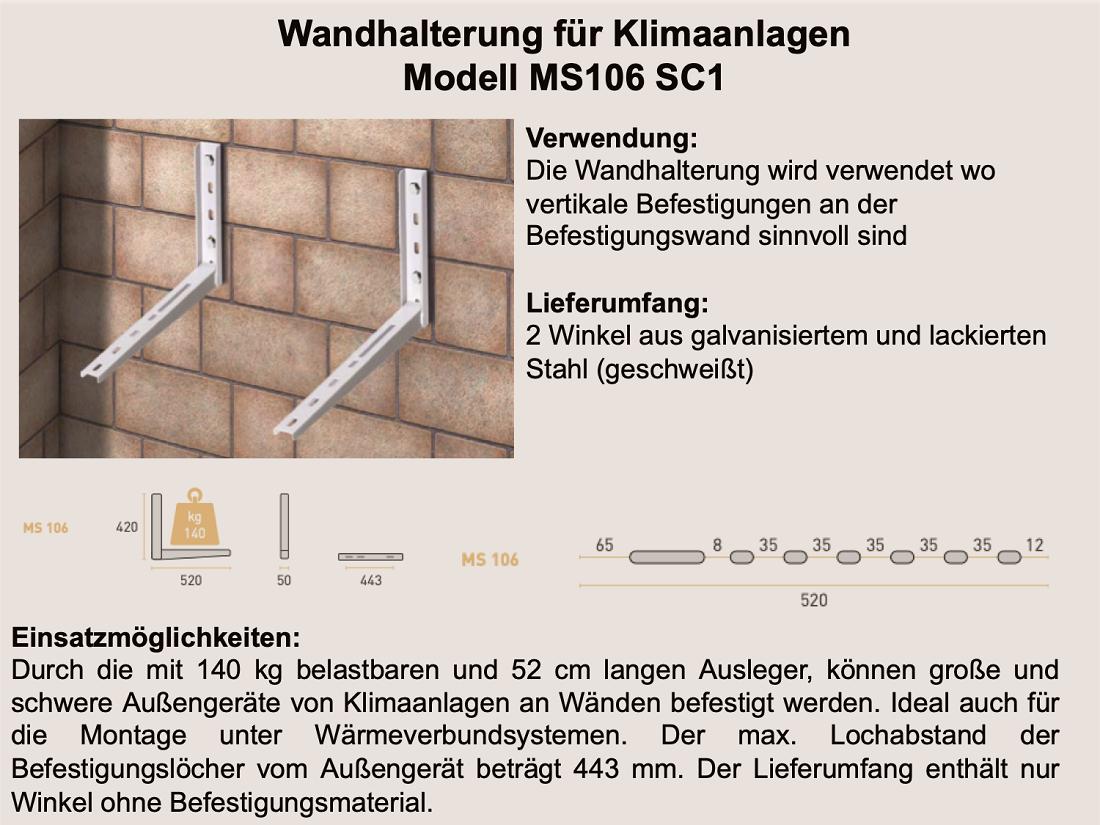 Wandhalterung MS106